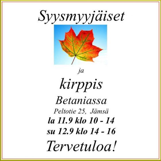 Syysmyyjäiset & Kirppis